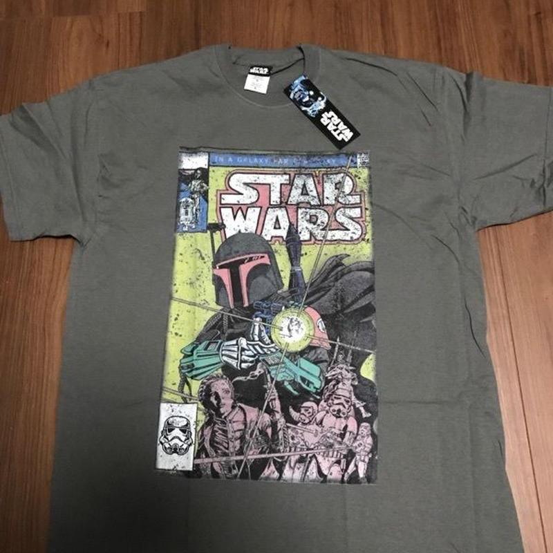 STAR WARS Boba Fett カバーデザイン Tシャツ