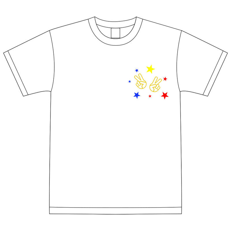 【DelightStyle】『Deliver Song 〜v(^ ^)v〜』ホワイトTシャツ(LIVE会場受取限定)