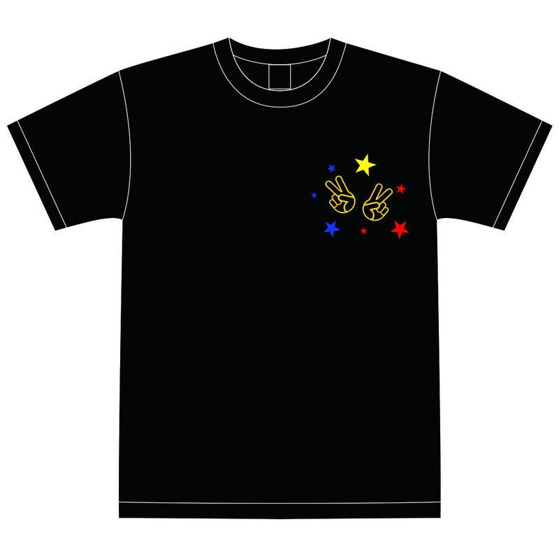 【DelightStyle】『Deliver Song 〜v(^ ^)v〜』ブラックTシャツ(LIVE会場受取限定)