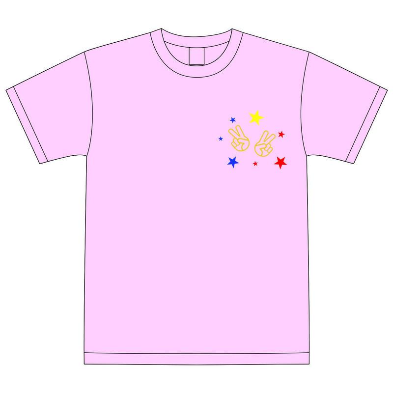 【DelightStyle】『Deliver Song 〜v(^ ^)v〜』ライトピンクTシャツ(LIVE会場受取限定)