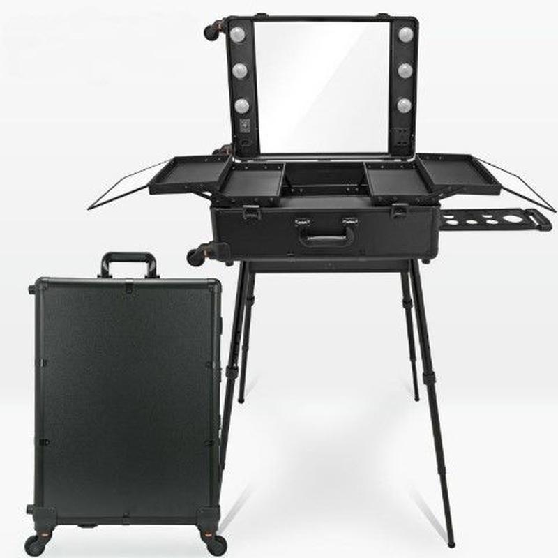 選べる本体カラー&ライトカラー ハリウッドミラー スーツケース メイクステーション プロ用 新品
