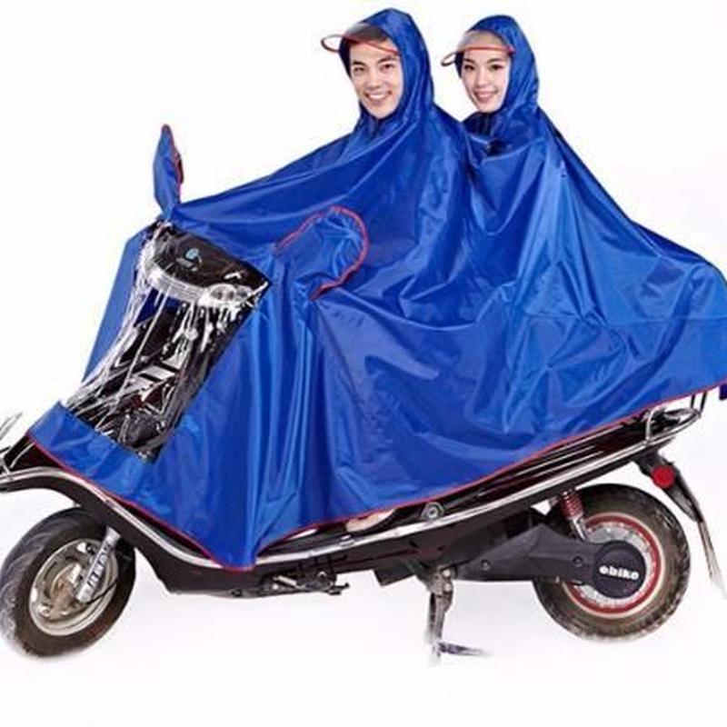 バイク二人乗り用レインコート カッパ 6色 防水 オートバイ用 レインウェア ポンチョ 防寒 ツーリング 2人乗り