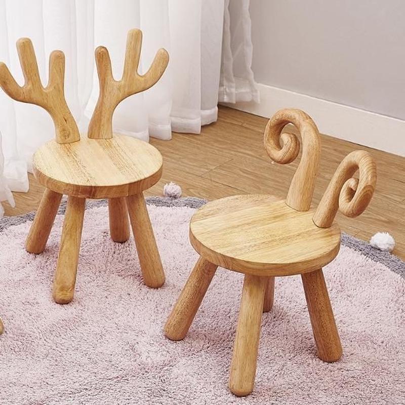 北欧スタイル 椅子子供用 木製 スツール 4デザイン 羊 トナカイ ウサギ 羽 北欧雑貨 インテリア