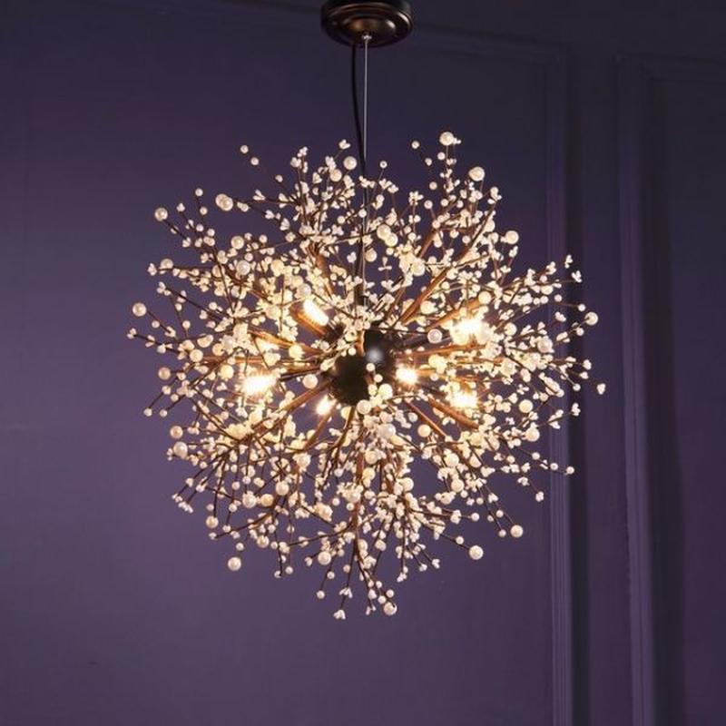シャンデリア LED照明 ヴィンテージ アンティーク 8灯 おしゃれ 北欧 40W