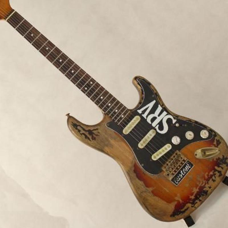 SRV スタイル アンティーク加工 レトロデザイン エレキギター 初心者 Stevie Ray Vaughan グローバルカスタムギターのみ ケース無し