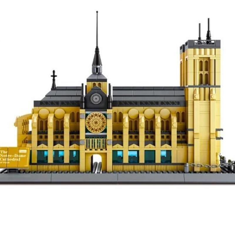 LEGO互換 パリ ノートルダム大聖堂 1380ピース