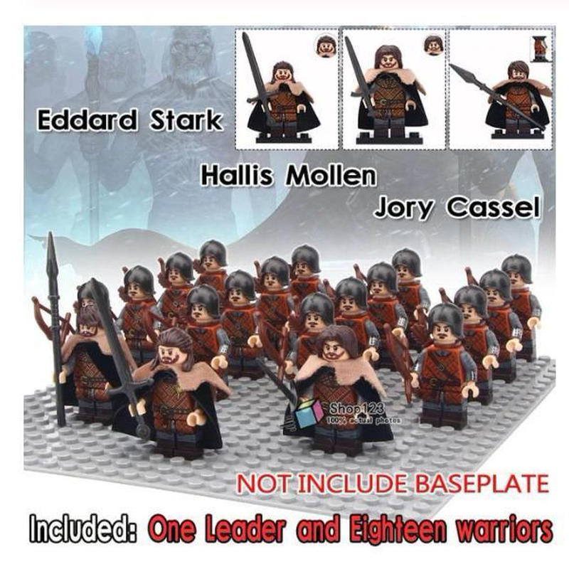 レゴ互換 ゲームオブスローンズ 北部軍弓兵16体+指揮官3体分