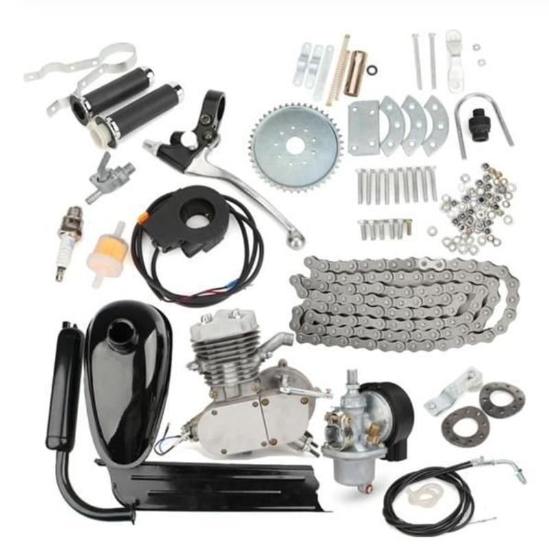 高品質 80cc 2ストローク モーター エンジンキット DIY 自転車バイク マウンテンバイク ロードバイク プッシュバイク ガソリンサイクル モーターセット