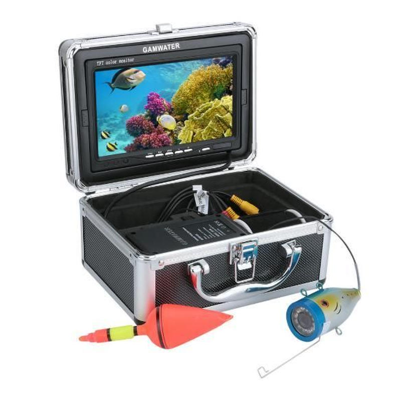 30Mケーブル GAMWATER 7インチモニター 1000tvl 水中カメラ 水中釣りカメラキット 12赤外線LEDライト 釣りカメラ フィッシング