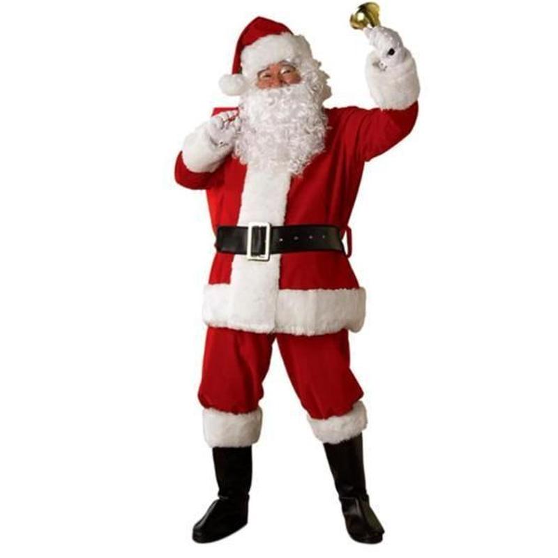 クリスマス サンタ コスプレ 衣装 大人用 髭付き クリスマスプレゼント パーティー 仮装