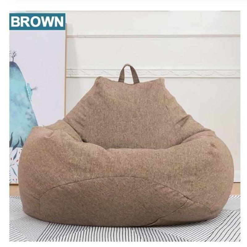 リビング 昼寝 快適 フィット ソファー 豆袋 カバーセット 8色 Mサイズ 80×90cm 洗濯可