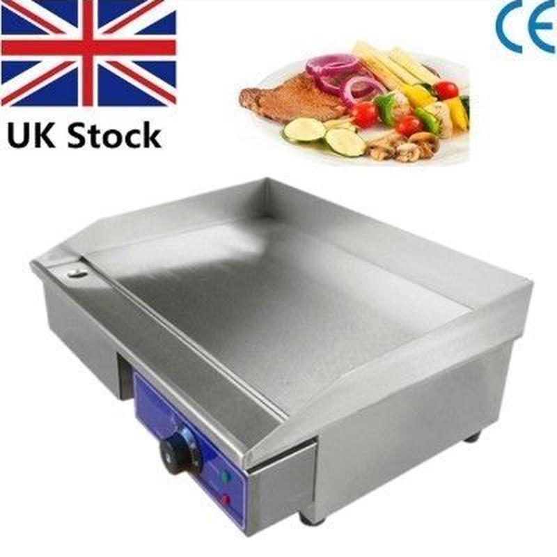 電気グリドル ステンレス製 鉄板焼き プレートグリル BBQ
