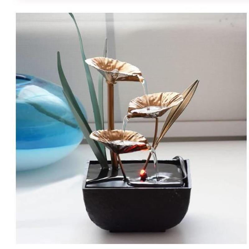 噴水 デスク オフィスの装飾品 リビングルーム 風水 家の装飾 置物