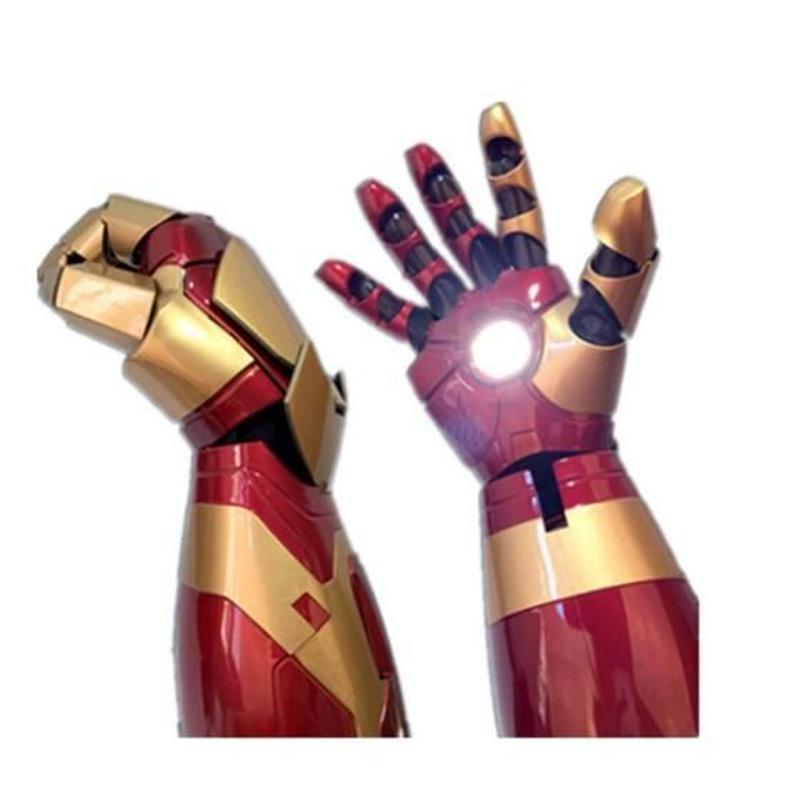 高品質 アイアンマン MK42 LED点灯 アーマーハンドアーム 衣装 海外限定 映画グッズ レプリカ フリーサイズ コスプレ衣装 ハロウィン