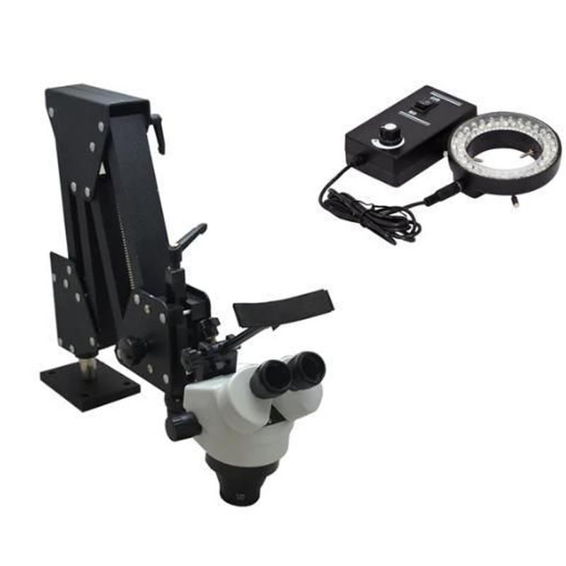 LED付き ズーム式実体顕微鏡 アーム付実体顕微鏡 実験 研究 総合倍率 7-45倍 業務用 新品