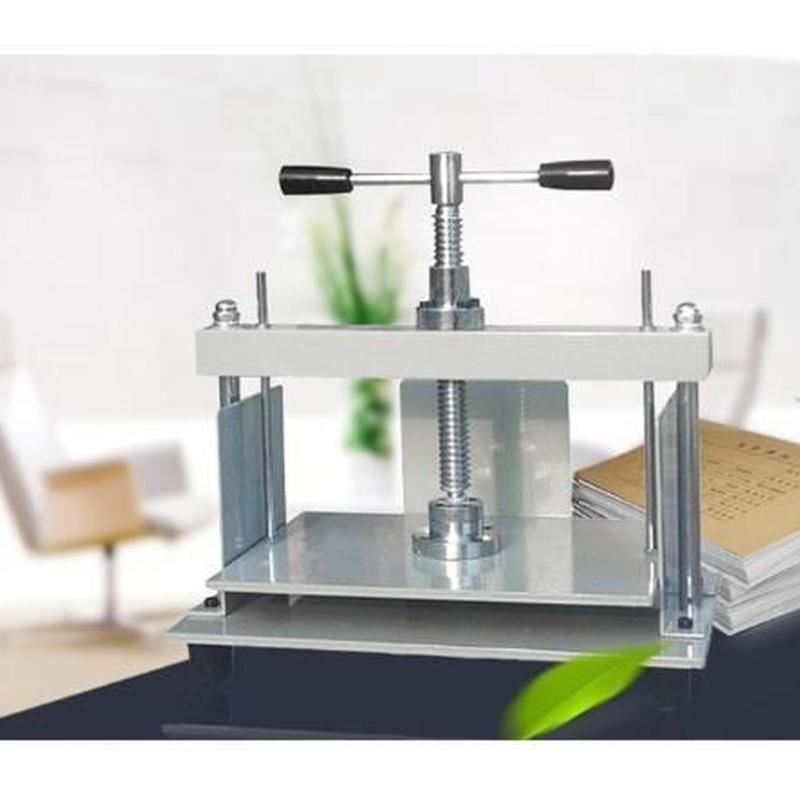 製本用プレス機 A4 手動紙プレス機 卓上 ハンドプレス機 手動プレスマシン 高圧圧着機
