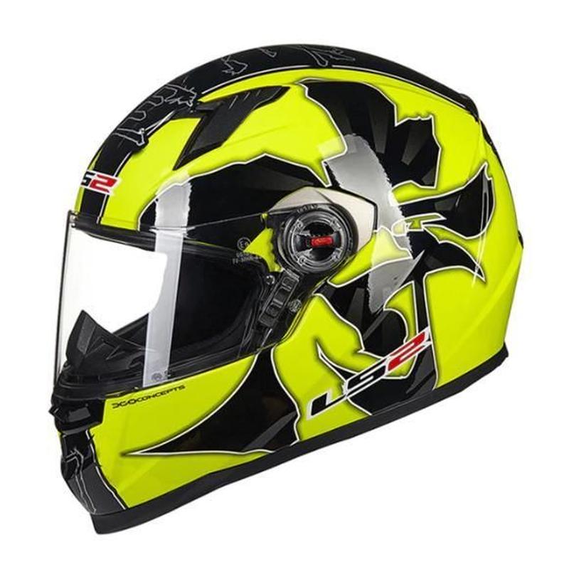 軽量ABS樹脂製オートバイヘルメット LS2 スポーツタイプ  8デザインから選択