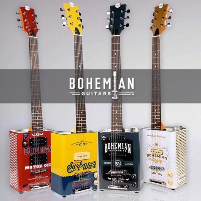 オイル缶ギター 7デザインから選択 ボヘミアンギター 高品質 ギター本体 おしゃれ Bohemian Guitar