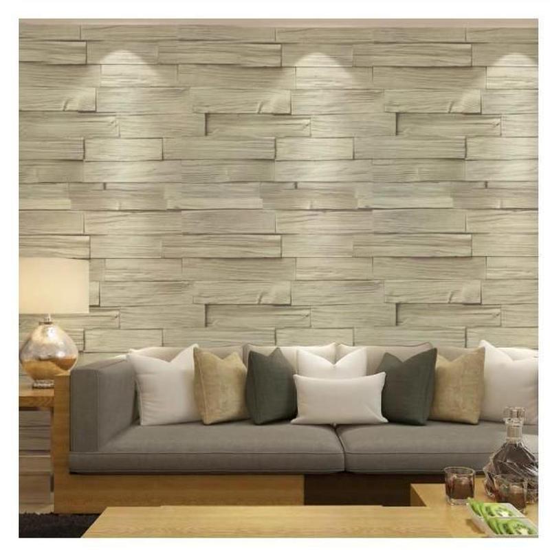 3D 壁紙 53×1000㎝ 木板 ウッドボード レトロ PVC 防水 カビ対策 おしゃれクロス インテリア 装飾 寝室 リビング