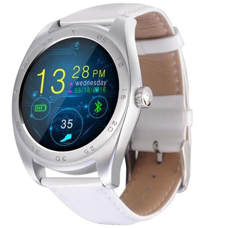 【6色】Android IOS Bluetooth スマートウォッチ クラシック 健康 メタル スマートウォッチ MTK2502C ハートレートモニター