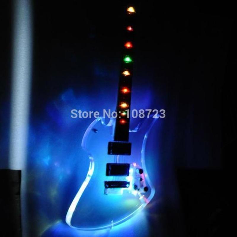 カスタム エレキギターアクリルギター LEDライト guitars ローズウッド fingerbaord メイプルネック