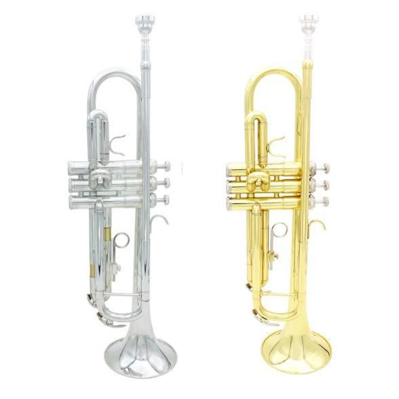 トランペット B♭キー 金管 本体 セット マウスピース ゴールドorシルバー バッグ 学生 吹奏楽