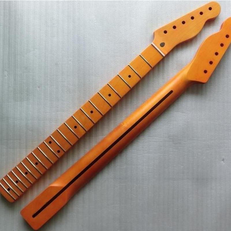 新品テレキャスタータイプ交換ネックメイプル指板21フレットtelecastar
