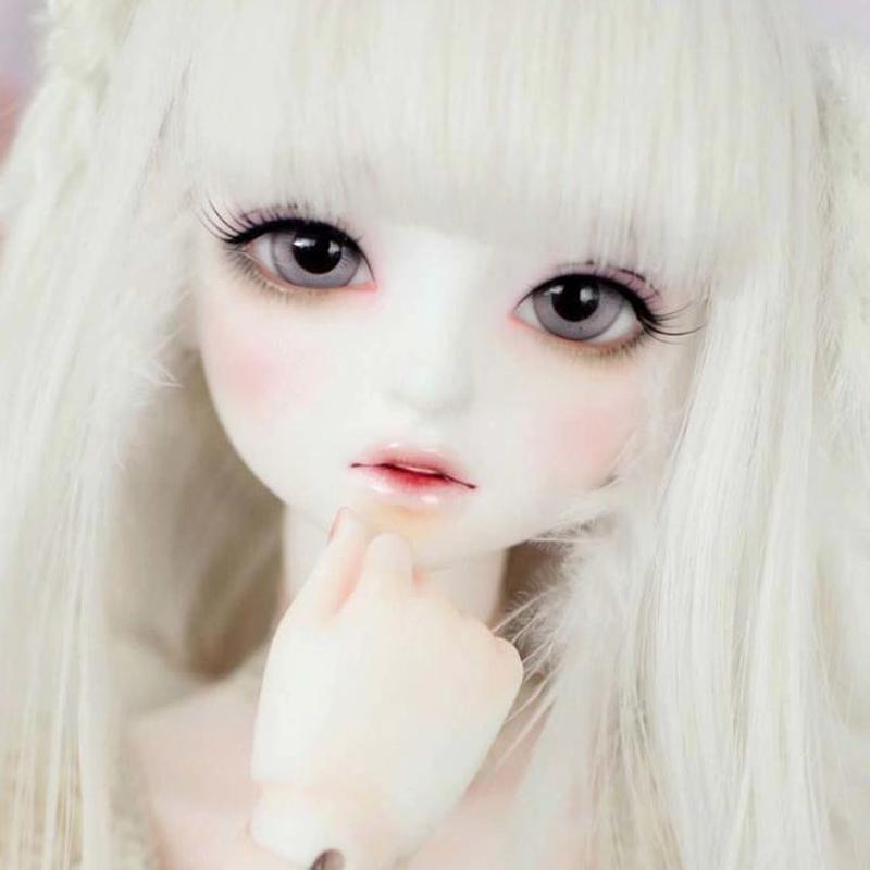 球体関節人形 本体+眼球+メイクアップ済 BJD カスタムドール 女の子 ソフィア人形 SDサイズ 1/4