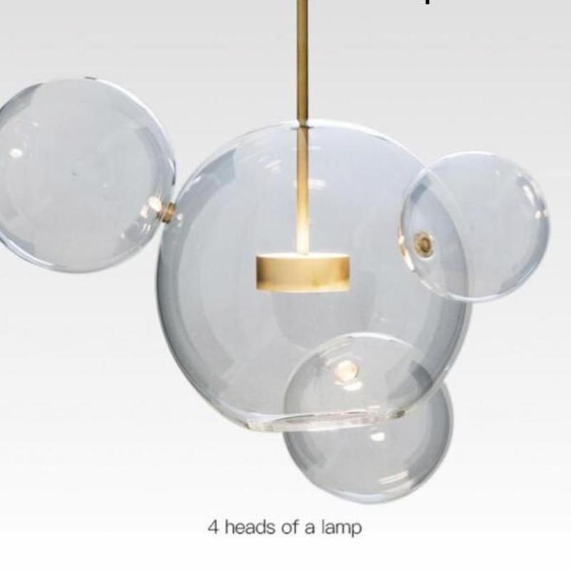 LED 天井照明 ペンダントライト 球体 丸形 バブルボール ガラス ぶら下げライト 北欧デザイン