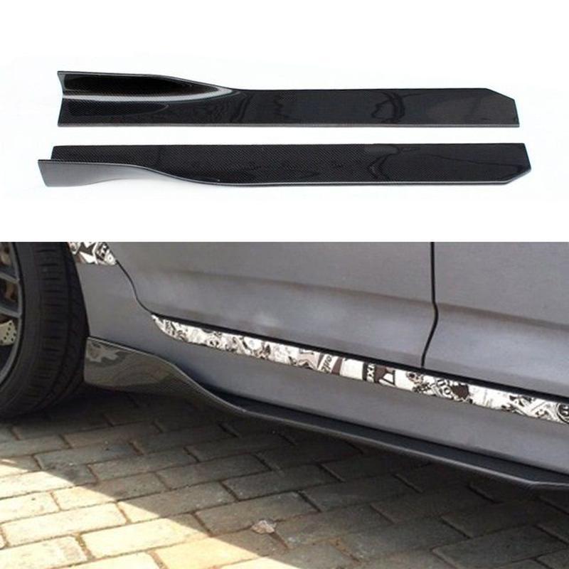 ベンツ サイド スポイラー ウィング W205W204W203W447W463W169W176W211~ CLS GLA GLK SL CLA AMG カーボン柄