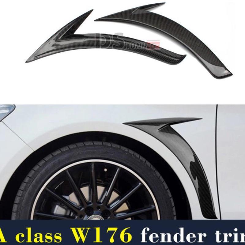 メルセデスベンツ W176 A45 カーボン フェンダートリム フェンダー オーバーフェンダー フェンダーパネル 左右セット  A180 A200 A250 2012-