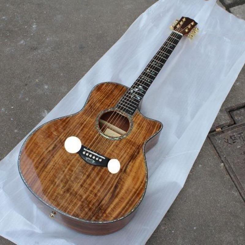 高級 木製 アコースティックエレキギター バンド 音楽 ミュージック