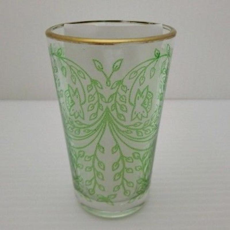 ミントティーコップ・グラス 孔雀イエローグリーン 約H8.5×φ5cm