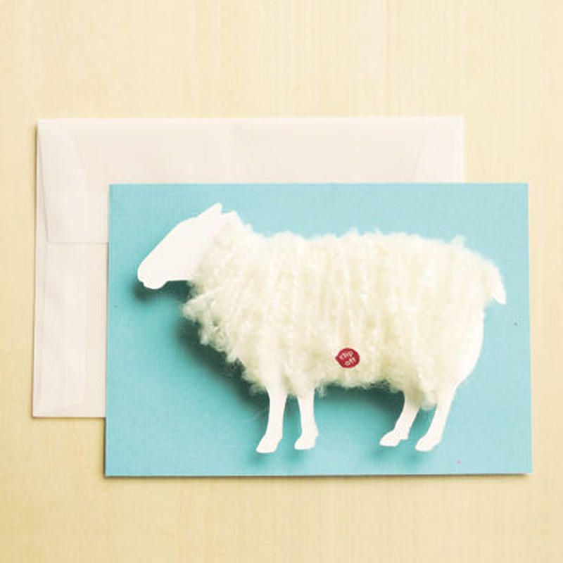 【ZA006】羊の毛刈りメッセージカード