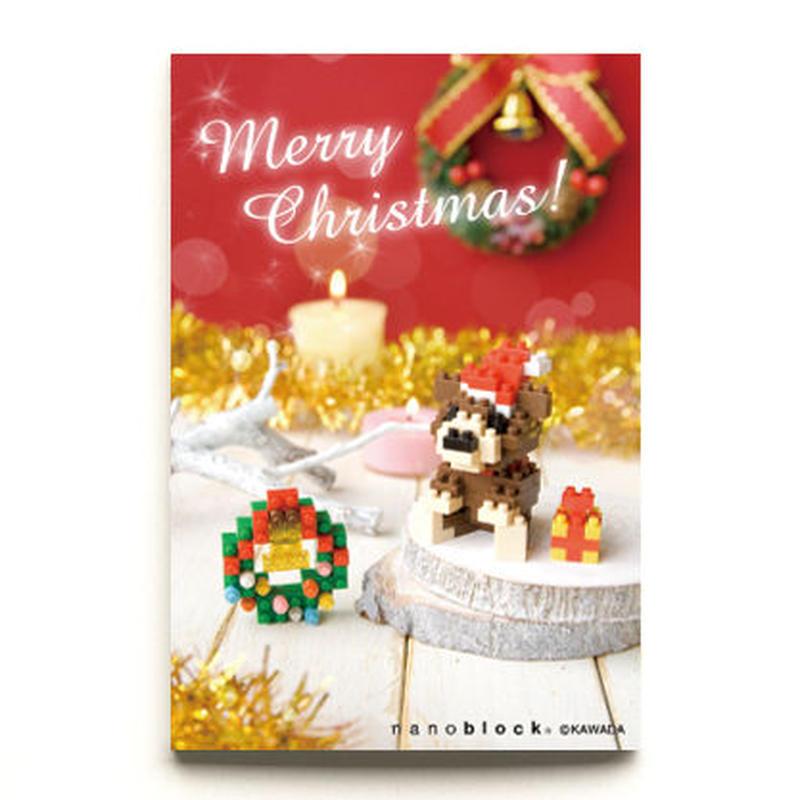 【NP073】nanoblock®クリスマスカード 〜クリスマスベア&リース〜