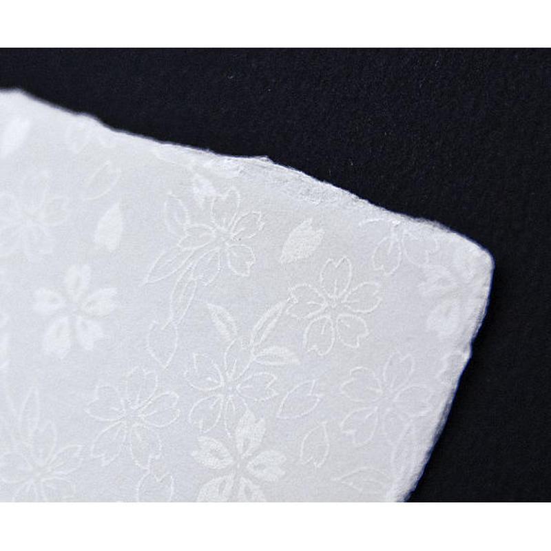 【S-017】手漉き和紙カード 〜桜〜