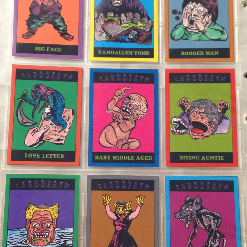 第1弾【CARDDEATH カードデス】(ノーマル・染料インク版)全9種入り