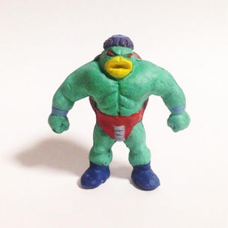 妖怪レスラー・カッパーマン(彩色)プラスチック人形