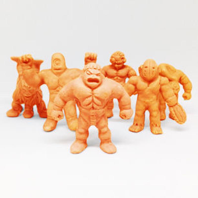 第1弾 妖怪レスラー・全6種(肌)消しゴム人形