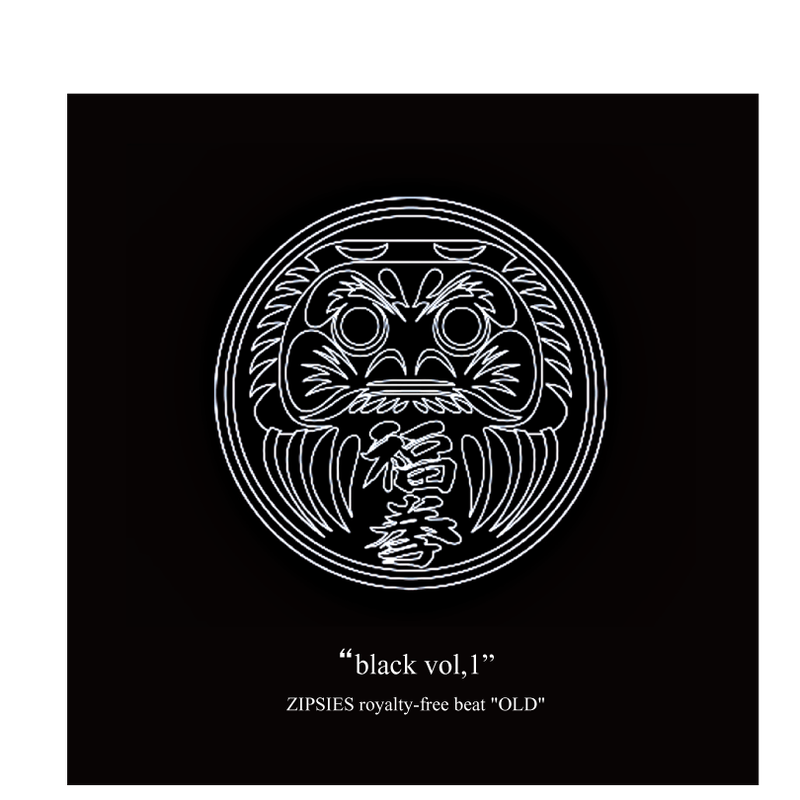 """black vol,1""(7曲)  ZIPSIES royalty-free beat ""OLD"""