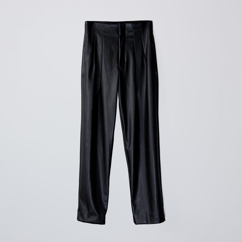 high-waisted 2darts pants  / black