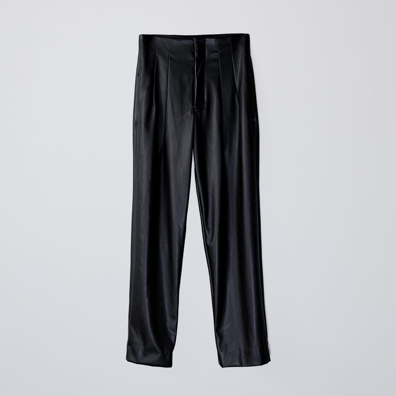 high-waisted 2darts pants  / black
