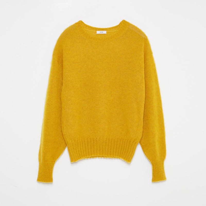 mohair sweater / gold
