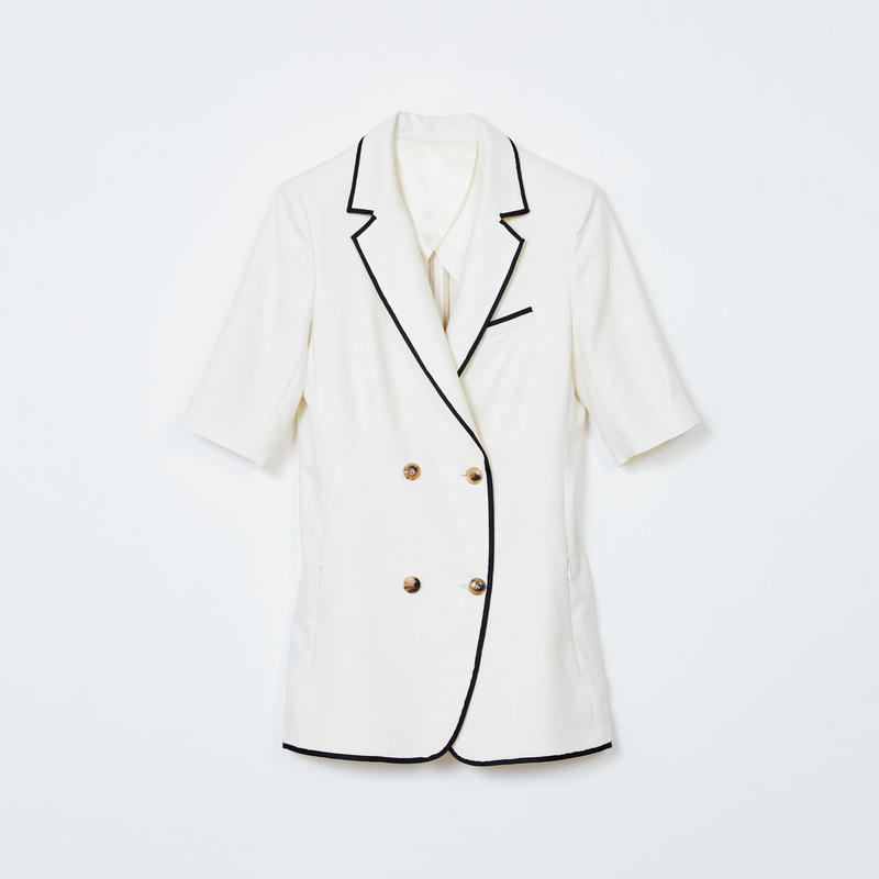 white short sleeve double jacket