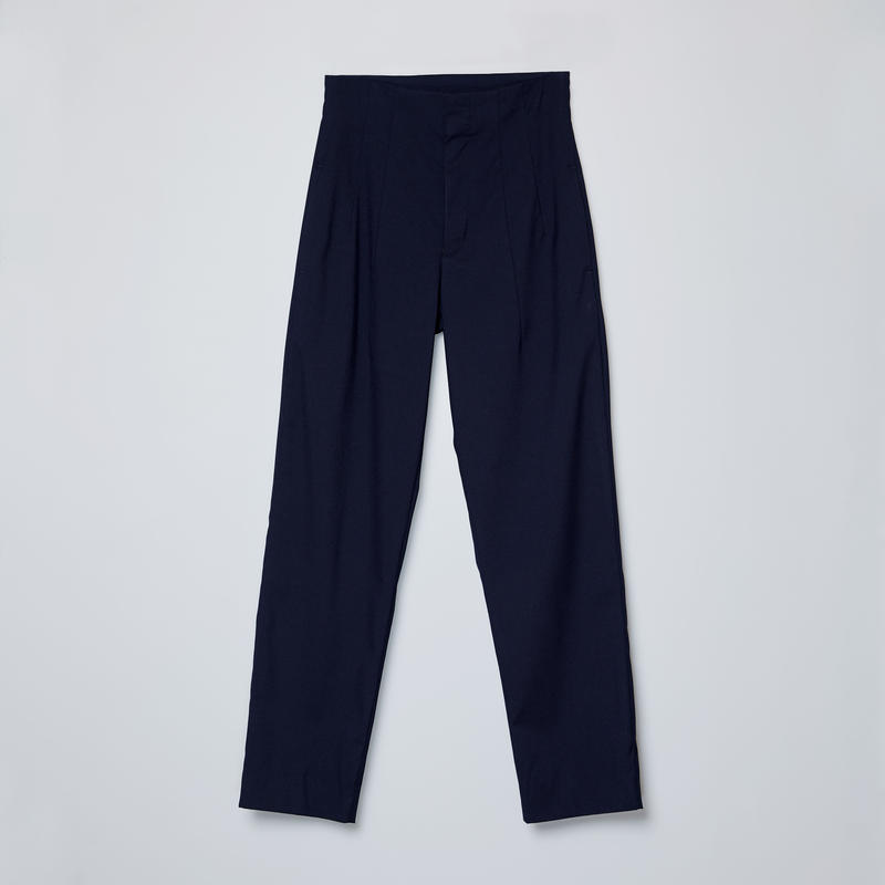 high-waisted 2darts pants / navy