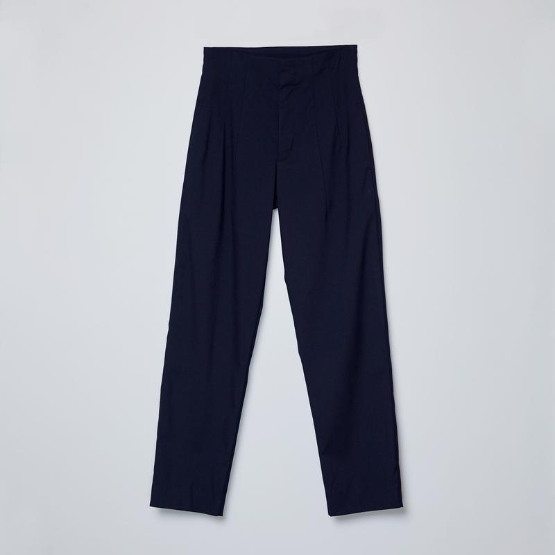 high-waisted 2darts pants / navy