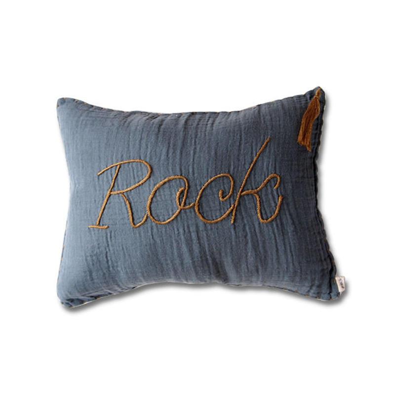Numero74 ヌメロ74  Message cushion pastel メッセージクッション loe blue