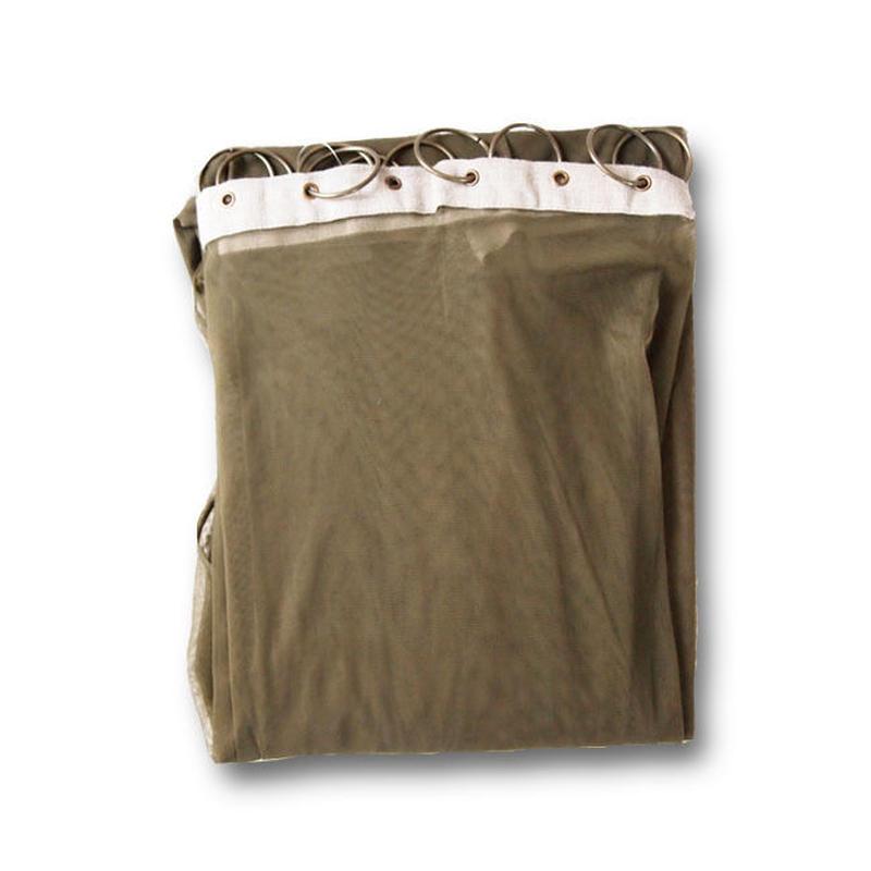 en fil d'Indienne オンフィルダンディエンヌ カーテン Tulle curtain Khaki 120x300
