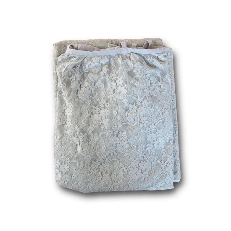 Numero74 ヌメロ74  gathered curtain lace flower ギャザーレースカーテン silver grey
