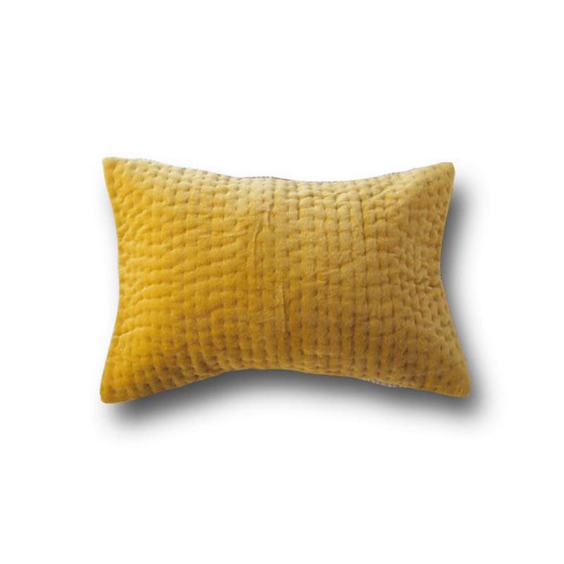 en fil d'Indienne オンフィルダンディエンヌ クッションカバー Vague Citron 30x45【中材なし】